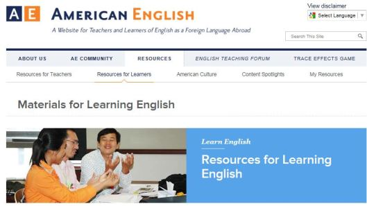 AE Learning Site Page