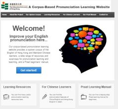 A Corpus-Based Pronunciation Learning Website (Home Page)